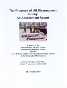 The Progress of UN Disarmament in Iraq